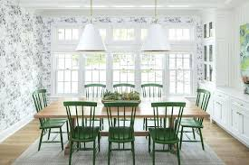 Plaid Dining Chairs Blond Wood Table With Emerald Green Room Chair Cushions
