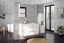 pelipal badezimmer fokus 3050 weiß mit mineralmarmor mit led