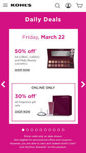Kohl's Daily Deal 3/22 - 50% Off All LORAC, CARGO, And Mally ... Kohls 30 Off Coupon Code With Charge Card Plus Free New Years Sale October 2018 Store Deals For 10 Nov 2019 Pin On Picoupons Coupons Iphone Melbourne Accommodation Calamo Saving Is Virtue 16 Off On Average Using Coupons Codes Promo Maximum 50 Natasha Denona Sunset Palette Code From Allure Green Monday Cash Save Up To Of Your Entire Purchase Printable 40 Farmland Bacon Coupon Most Valued Customer Shipping No Minimum