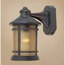 outdoor decorative wall motion light including vaxcel forte