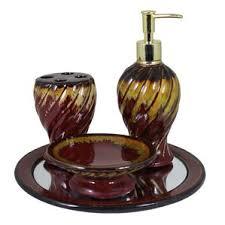 Burgundy Star Bathroom Accessories by Bath Accessory Sets You U0027ll Love