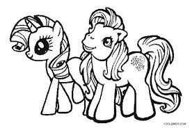 Pony Coloring Pages My Little Cute Baby