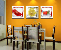 Vegetables Combine Fruits Kitchen Wall Decors White Basic Color Framed Modern Ceiling Lamps Light Yellow