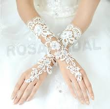 Elbow Long Lace Gloves Ivory Wedding Bridal By Rosabridal