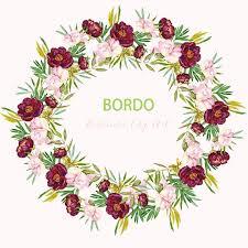 Peony Bordo Watercolor Clipart Digital Hand Drawn Romantic Wedding Superior Pink Flowers Cards Maroon Invitations