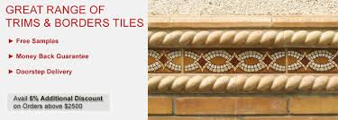 border trim dome rail moldings kitchen bath tilesbay