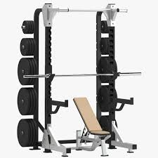 Gymax Adjustable Olympic Weight Bench Set Folding Heavy Gym Weight