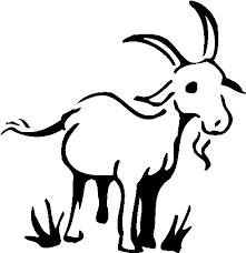 Goat Clip Art Black And White Image