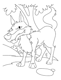 Wolf In Jungle Coloring Pages