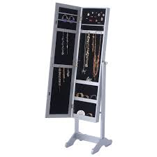 Mirrored Jewelry Box Armoire by Silver Mirrored Jewelry Cabinet Organizer Storage Box Mirrors