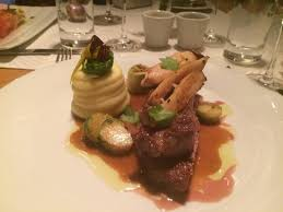 pot au feu prague ryb eye steak with potato puree and mushrooms picture of pot au