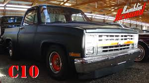 100 1983 Chevrolet Truck C10 Shortbed Pickup V8 Flat Black YouTube