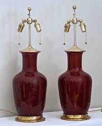 Christopher Spitzmiller Lamp 1stdibs by Pair Of Christopher Spitzmiller Oxblood Sang De Boeuf Red Ginger