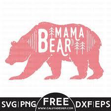 Mama Bear Free SVG