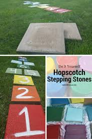DIY Hopscotch Stepping Stones & CCBG #18 - My Thrifty House Garden With Tropical Plants And Stepping Stones Good Time To How Lay Howtos Diy Bystep Itructions For Making Modern Front Yard Designs Ideas Best Design On Pinterest Backyard Japanese Garden Narrow Yard Part 1 Of 4 Outdoor For Gallery Bedrock Landscape Llc Creative Landscaping Idea Small Stone Affordable Path Family Hdyman Walkways Pavers Backyard Stepping Stone Lkway Path Make Your