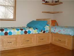 Corner Twin Bed Plans — Modern Storage Twin Bed Design Best Twin