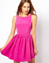 american apparel button back swing dress in pink lyst