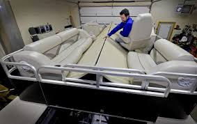 Oakdale Inventor's Pontoon Boat Unfolds To Seat 16, With A Press Of ... How To Add More Seats Your Fishing Boat Sport Magazine Cheap Yachts For Sale 10 Used Motoryachts Under 150k 15 Top Ptoon Deck Boats For 2018 Powerboatingcom 21 Best Beach Chairs 2019 Making New Marine Vinyl 6 Steps With Pictures Shoxs 5605 Compact Jockeystyle Boat Suspension Seat Swing Back Leaning Post Seawork Shockwave Princecraft Gateway Power Sports 7052954283new Or Secohand Buyers Guide Four Of The Best Used British Yachts