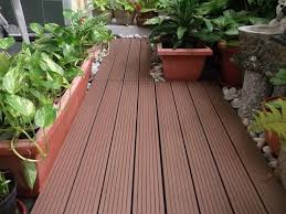 Outdoor Balcony Garden With Waterproof Flooring