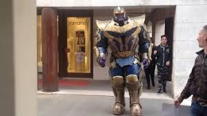 Thanos Infinity War Cosplay HelmetGloves Costume Props