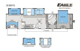 Fifth Wheel Bunkhouse Floor Plans by 2014 Jayco Eagle 34 5bhts Fifth Wheel Cincinnati Oh Colerain Rv