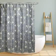 Cynthia Rowley Jacobean Floral Curtains by Cynthia Rowley Spring Floral Flowers Fabric Shower Curtain