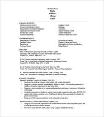 One Page Resume For PHD Student PDF Download