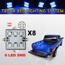 100 Truck Bed Lighting System 8x Pickup Kit LED Accessories Bright