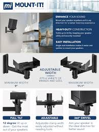 Polk Ceiling Speakers Amazon by Amazon Com Mount It Speaker Wall Mount Universal Side Clamping