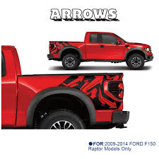 100 2014 Ford Truck Models ARROWS Body Rear Tail Side Graphic Vinyl Decals For FORD F150