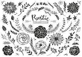 Rustic Decorative Plants And Flowers Collection