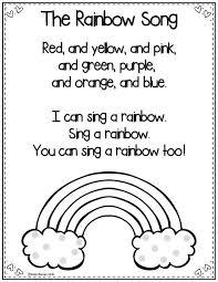 Teaching Color Words Rainbow Poem Freebie