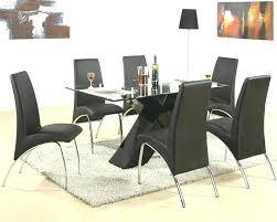 Black Dining Room Set Rectangular Glass Table New Ideas Modern Sets