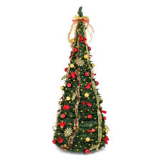 6ft Christmas Tree With Decorations by 6ft Predecorated Artificial Christmas Tree W Stand Ornaments