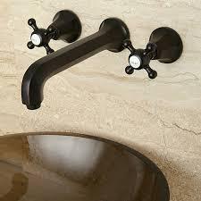oil rubbed bronze wall mount bathroom faucet unique oil rubbed