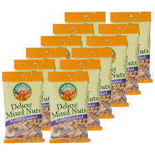 Roasted Unsalted Pumpkin Seeds Nutrition Facts by All Nuts Deluxe Unsalted Roasted Mixed Nuts 2 5oz 0 16lb Bag