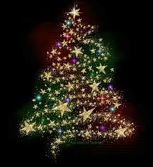 Sparkling Lights Animated Christmas Tree Gif Gold