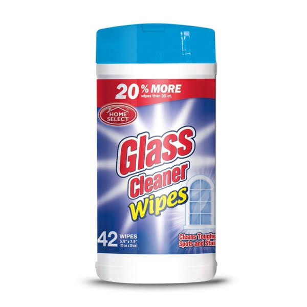 Home Select Glass Cleaner Wipes - 35ct