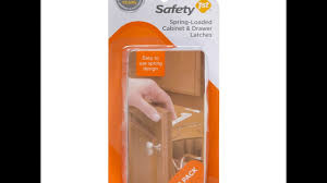 Child Proof Locks For Lazy Susan Cabinets by Safety First Spring Loaded Cabinet Latches Installation Youtube