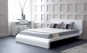 modrest roma modern white eastern king platform bed bedroom