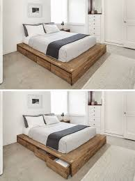 How To Build A King Platform Bed With Drawers by Bedroom The Most Incredible And Gorgeous How To Make A Wooden Bed