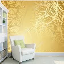 benutzerdefinierte gold tapete goldene retro muster moderne wandbilder für wohnzimmer schlafzimmer hintergrund wand wasserdichte tapete