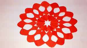 Paper Cutting How To Make Flower Design Origami Craft Tutorials