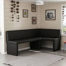 details zu eckbank bank schwarz kunstleder 128 x 168cm küchenbank sitzbank sitzecke essecke
