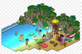 Habbo Pixel Art Jumping Pumpkin Beach Hotel