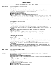 Executive Receptionist Resume Samples | Velvet Jobs Receptionist Resume Examples Skills Job Description Tips Sample Pdf Valid Cover Letter For Template Where To Print Front Desk Archaicawful Medical Samples For And Free Forical Reference Velvet Jobs