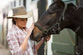 100 Farm House Tack Caring Cowgirl Talking To A Horse In Farm House