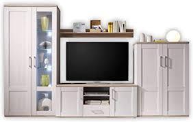 wohnwand wohnzimmer komplett set in sibiu lärche eiche san remo optik elegante landhausstil schrankwand 329 x 201 x 50 cm b h t