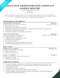 Executive Assistant Resume Template Office Templates Administrative Australia Free Sample