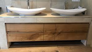 waschbecken unterschrank eiche holz im bad maß